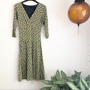 Boden double layer floral patterned jersey dress
